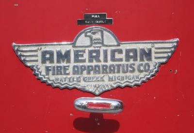 American Fire Apparatus plate