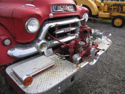 Front bumper and fire pump right front